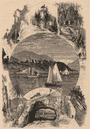 NEW YORK STATE: West Point, and scene in vicinity. Hudson; antique print 1874